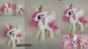 Young Celestia handmade plush by valio99999