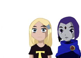 Raven and Terra as Kids by terra999