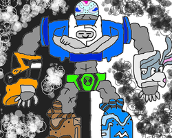 Cartoon Network Megazord (Attack Mode) by conlimic000