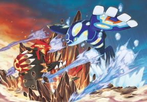 Primal Groudon and Primal Kyogre Signature Moves by ColdBlitz