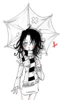 umbrella girl geting cold by Jump-Button