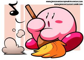 A Cleaning Kirby by JamesmanTheRegenold