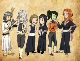 Group crossover: Bleach by raevenilonka