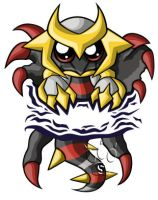 Giratina Chibi by RedPawDesigns