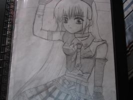 anime girl by t2thea2them