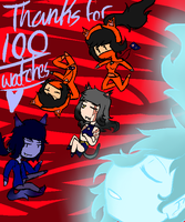Thanks For 100 Watches! by NinjaJervanii