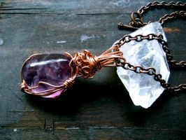 Purple Fluorite Faery Amulet by EireCrescent