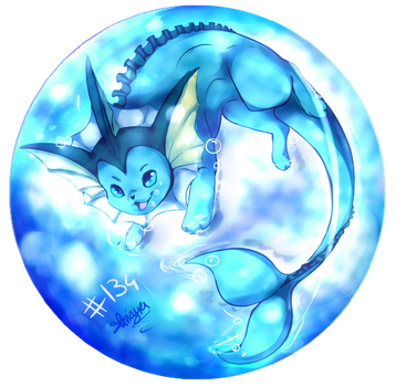 Pokemon time 6 Vaporeon for Pikachu jaune by shinayra