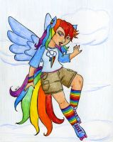 PoC - Latina Rainbow Dash by Nethilia