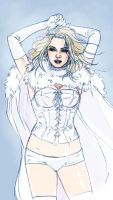 Emma Frost sketch by MarcLaming