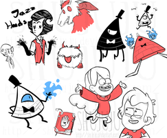 Dont Starve Gravity Falls sketches by shujuju