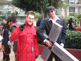 Me Vash and Wolfwood 2 by CycloneX3