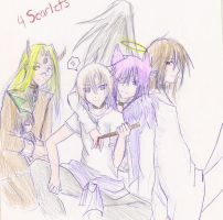 Legendary Four Scarlets by MoonlightxShadowx