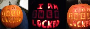 Sherlock Pumpkin by LaurenKitsune