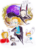 Hiddles in wonderland sketch by rompopita