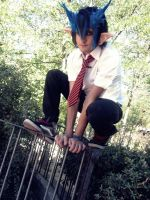 Rin Okumura cosplay by ChromeRitona