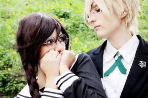 Danganronpa - Just looking at you by littleWildviolet