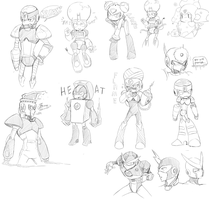 Megaman sketches plz by Nyaph