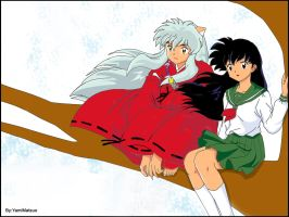 Inuyasha x Kagome - Colored by YamiMatsuo
