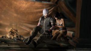 Dante X Lara Croft 134 by candycanecroft