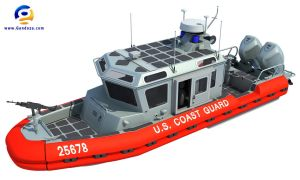 3d model of coast guard defender class boat by Gandoza