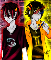 Karkat n Sollux by Timeless-Knight