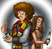The 4th Doctor and Leela by Gorpo