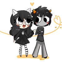 Gift- Karkat and Jade by MissDaniChan