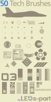50 Tech Brushes by new-gfx-community