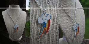 mlp: rainbow dash necklace by resubee