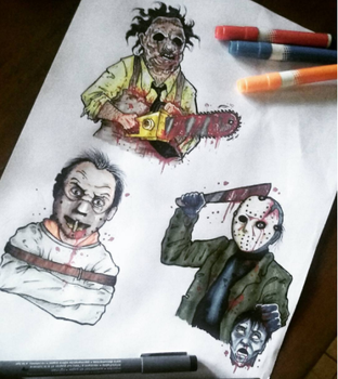 Leatherface - Hannibal - Jason by Frankienstein