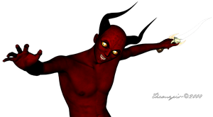 Nasty little red guy. heh by Thamyris71