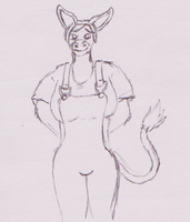 Dolly the doughy donkey by WhippetWild