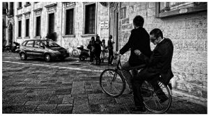 bicycle boys in Lecce by GDALLIS