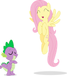 Fluttershy and Spike by Thormalu