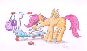 ATG3 Day4 - Scootaloo fixing her Scooter by BenjiK