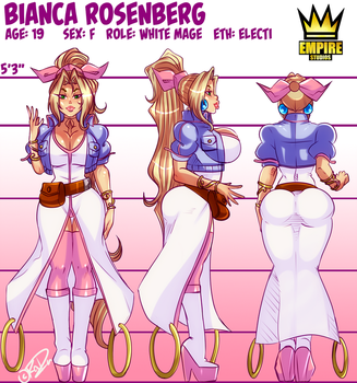 [RISE AGAINST!] official Bianca Character Sheet by RalDu