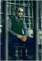 Joker in cell by neorillaz