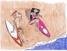 Phinbella-Surfing Love by Artie-stico17