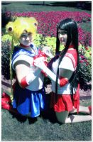 Sailor Scouts together by Kana-Mitsu
