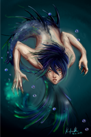 Merman, Rin King of the Oceans by Asano-nee
