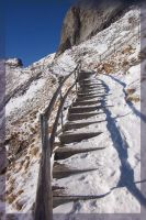 Up the icy staircase by roseofblack