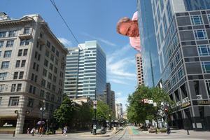 Archie Bunker attacks Salt Lake City by universetwisters