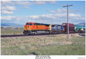BNSF 4170 and CSX 7907 by hunter1828