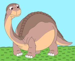 Littlefoot feel so chubby by MCsaurus