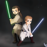 Qui-Gon and Obi-Wan:Animation by xXUnicornXx