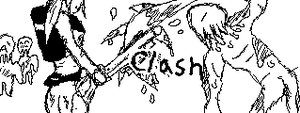 Clash of the Zombies (Mii Verse Drawing) by NintendoSensei77