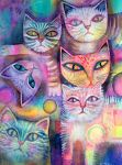 Mother cat and kittens by karincharlotte