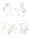 Study of Hands I by delespi