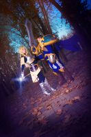 Lux and Garen - Photo family by NunnallyLol